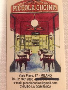 Milano.La Piccola Cucina – Il Blog di Paola Buratto Caovilla